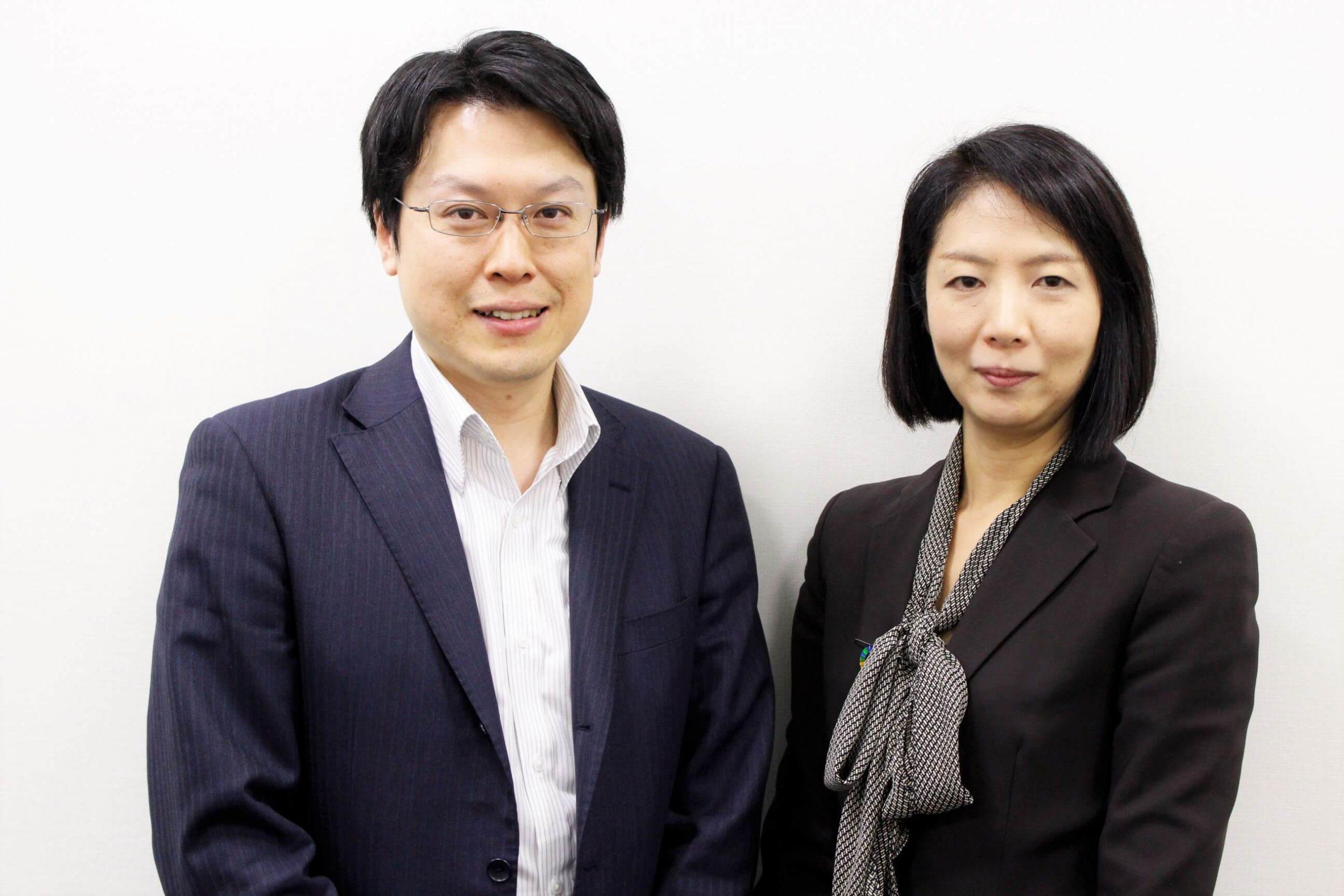 リンカーズ 前田(左)と ソフィアバンク 藤沢様(右)